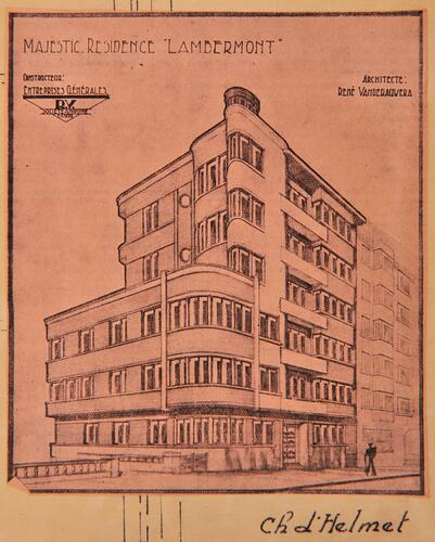 Schaerbeek boulevard lambermont for Projet architectural definition
