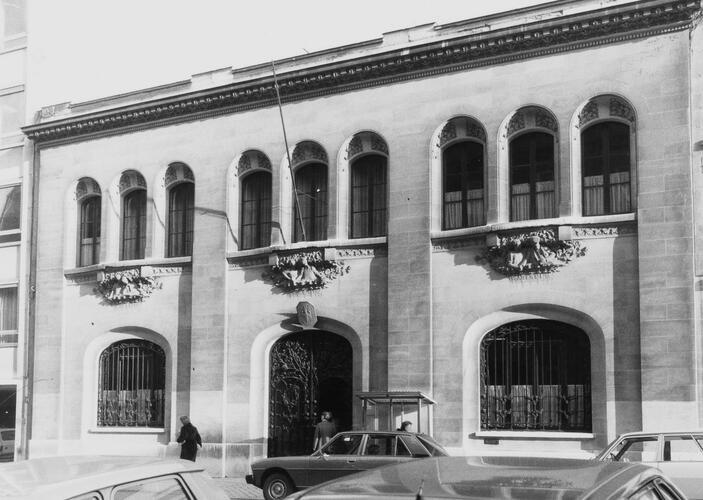 rue Ducale 65. Chancellerie de l'ambassade de France, 1981