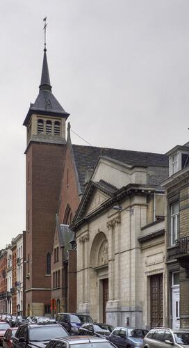 Ancienne et actuelle églises du Sacré-Cœur