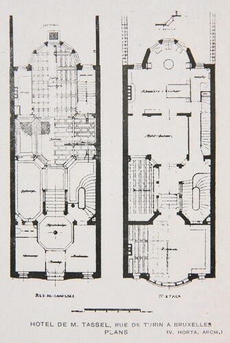 Rue Paul-Émile Janson 6, plan du r.d.ch., [i]Le Document[/i], 34, 1925.