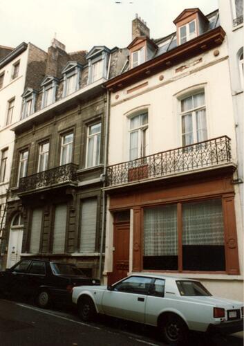 Rue de Bériot, à gauche le no 45 (photo 1993-1995)