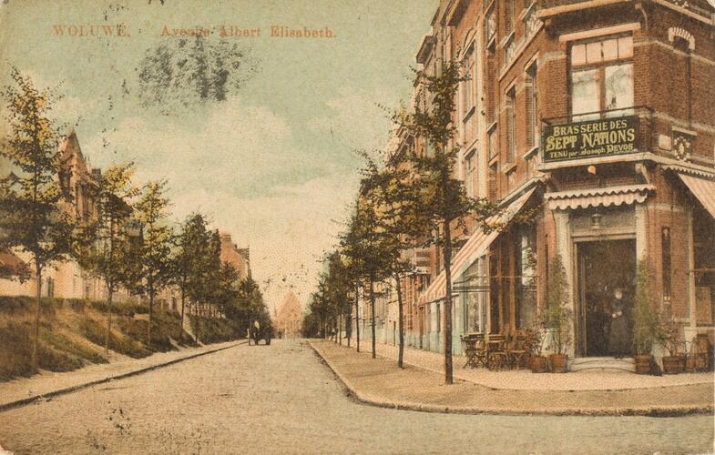 Vue de l'avenue Albert-Élisabeth (Collection Dexia Banque-ARB-RBC)