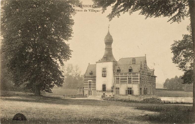 Drève du Chateau 64, Chateau De Rivieren, anc. Chateau de Villegas (Collection Belfius Banque-Académie royale de Belgique © ARB – urban.brussels, DE37_014)
