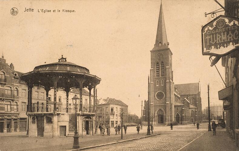 Vue sur place Cardinal Mercier (s.d., Collection Belfius Banque-Académie royale de Belgique © ARB – urban.brussels, DE40_095)