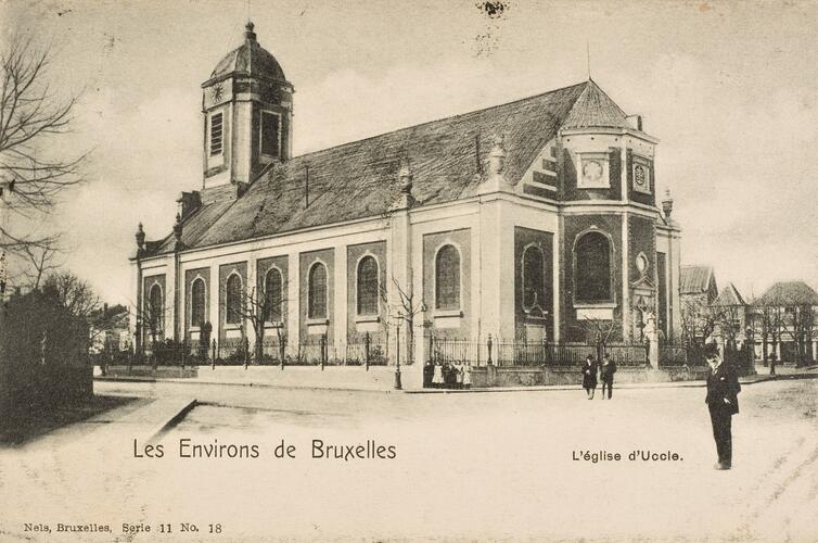 Dekanale Sint-Pieterskerk, omstreeks 1901 (Verzameling Belfius Bank-Académie royale de Belgique © ARB – urban.brussels, DE53_197)