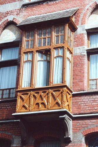 Houten erker, vml. woning en kliniek van Dr. Lambrechts, Jean Wellensstraat 27, Sint-Pieters-Woluwe, vóór 1911, 2005