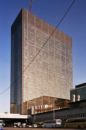 Mur-rideau, Tour des Finances, bd Pachéco, Bruxelles, vers 1980, architectes J. Gilson, M. Lambrichs, G. Ricquier et H. Van Kuyck, 2005