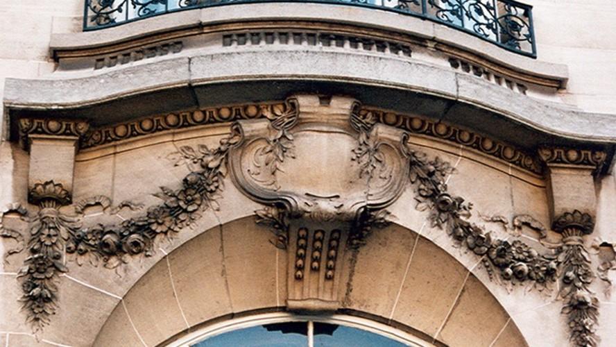 Guirlandes, bd Brand Whitlock 2, Woluwe-Saint-Pierre, 1912, architecte G. Dufas (photo s.d.)