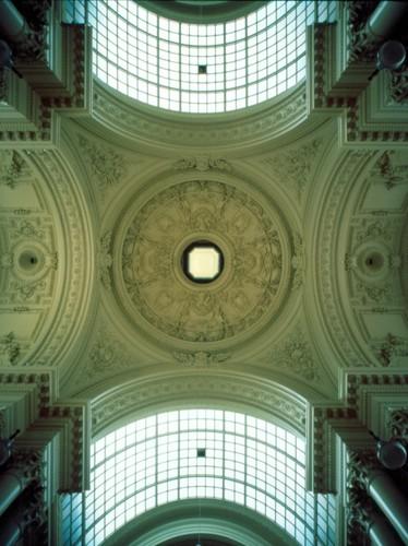 Koepel, Beursgebouw, Anspachlaan 80, Brussel, 1865, arch. L. P. Suys, foto Ch. Bastin & J. Evrard © MBHG