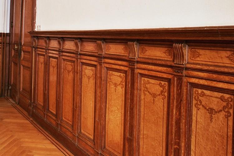 Lambris de bois, chaussée de Charleroi 127, Saint-Gilles, 1899, architecte Jules Brunfaut, 2004
