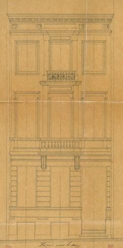 Élévation, rue Berckmans 87, Saint-Gilles, ACSG/Urb.  2912 (1875)