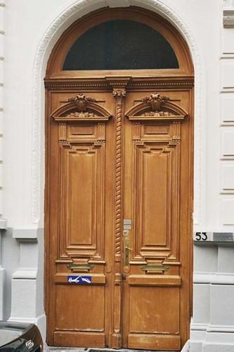 Porte de menuiserie, rue d'Angleterre 53, Saint-Gilles, 1875, architecte Jules De Somme, 2004