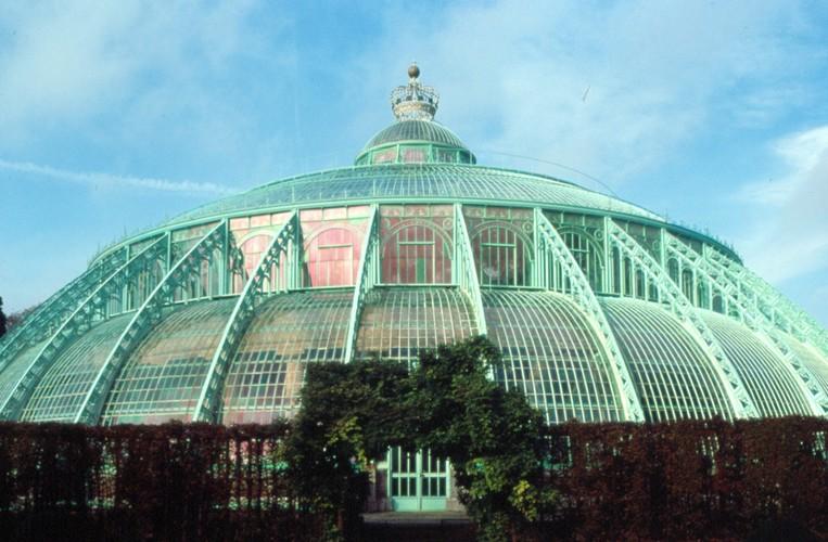 Serres du Palais royal, av. du Parc royal, Laeken, 1874, architectes Alphonse Balat et Henri Maquet, photo Ch. Bastin & J. Evrard © MRBC