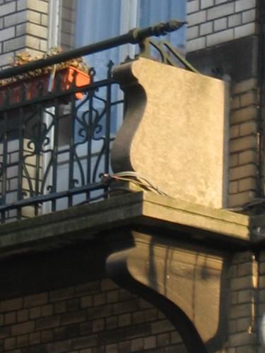 Joue de balcon de style Art nouveau, avenue du Parc 48, Saint-Gilles, 1905, 2008