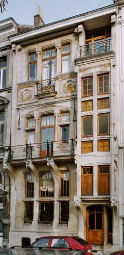 Art nouveau, maison, place Louis Morichar 14, Saint-Gilles, 1899, architecte Georges Delcoigne, 2004