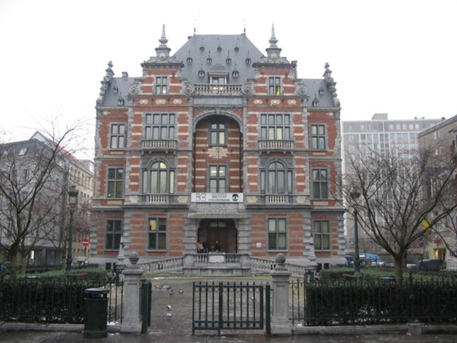 Style néo-Renaissance flamande, Institut Lucien Cooremans, place Anneessens 11, Bruxelles, 1877, architecte Emile Janlet, 2005