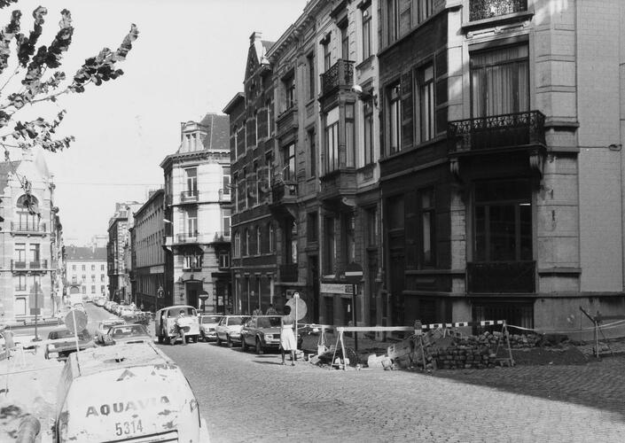Rue Ernest Allard, numéros pairs, 1980