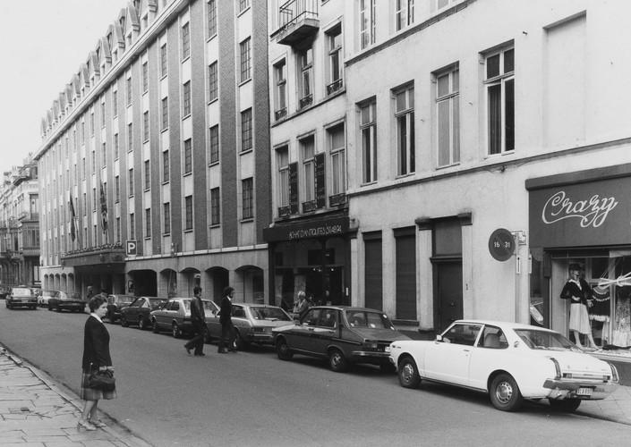 rue Duquesnoy, n° impairs, aspect rue, 1980