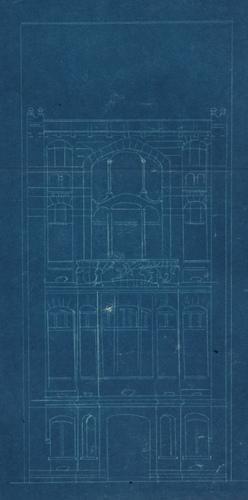 Rue de Belle-Vue 22 (démolie), maison de style Art nouveau, architecte Franz Tilley, élévation, AVB/TP 7402 (1900)