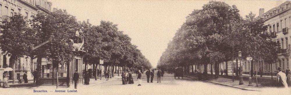 Vue de l'avenue Louise, allée centrale, s.d (Collection cartes postales Dexia Banque)