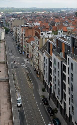 Rue des Palais, vue depuis le 42-46a, 2014