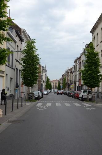 Rue Kessels, vue depuis la rue des Coteaux, 2014