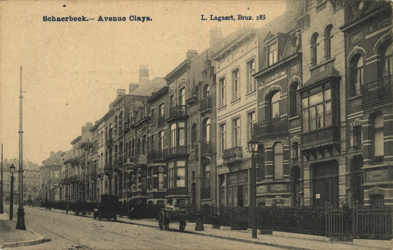Avenue Clays, vue du second tronçon côté impair, AVB/CP
