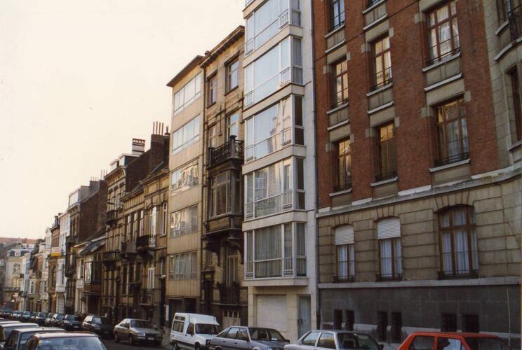 Rue des Aduatiques, enfilade côté impair, 1993