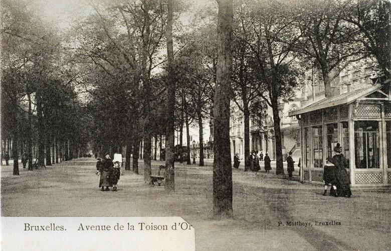 Avenue de la Toison d'Or, vers 1900 (Collection de Dexia Banque)