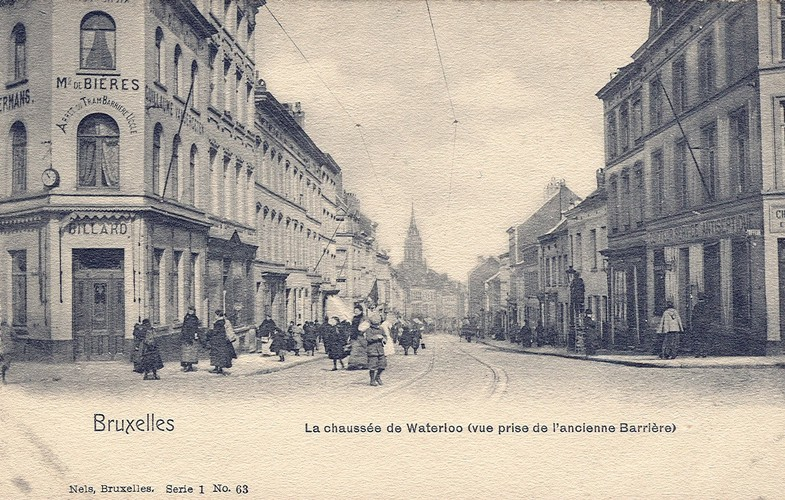 Chaussée de Waterloo, vue depuis la Barrière (Collection de Dexia Banque, 1920)