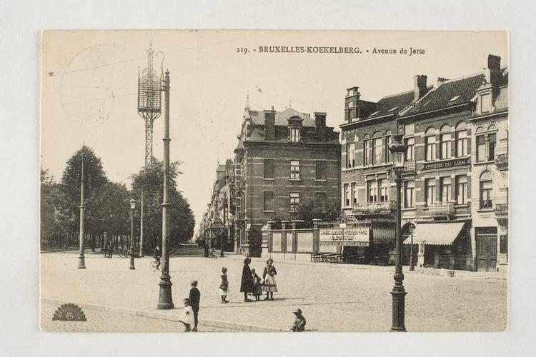 Aanvang van de Jetselaan vanop het Simonisplein, links het Elisabethpark, Verzameling Dexia Bank-ARB-BHG