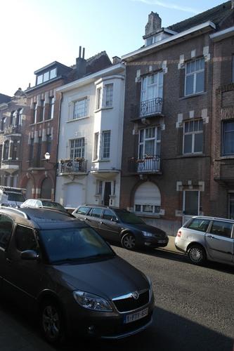 Rue des Augustines 65, 67 et 69, ensemble de maisons conçu par l'architecte Louis Tenaerts, 2015