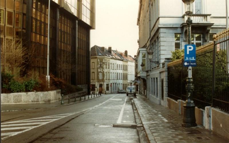 Rue de Bériot vue depuis l'avenue de l'Astronomie (photo 1993-1995)