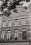 Place du Grand Sablon 38. Ensemble de maisons traditionnelles, détail étages, 1984