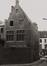 Hoogstraat 132. Bruegelhuis, achtergevel, hoek Rodepoort., 1980
