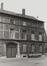 rue aux Laines 23, angle place Poelaert, détail. Hôtel de Mérode-Westerloo., 1980