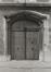 Rue aux Laines 23, angle place Poelaert, détail porche. Hôtel de Mérode-Westerloo, 1980