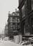 Leuvenseweg 15 tot 21. Voormalig Ministerie van de Spoorwegen, Post, Telegrafie en Zeevaart, gevel Henri Beyaertstraat ; binnenblok Leuvenseweg, Drukpersstraat, Hertogstraat en Henri Beyaertstraat, 1981