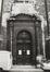 Rue des Minimes 62. Église Saints-Jean-et-Etienne aux Minimes, détail façade, 1980