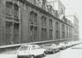 Rue des Petits Carmes 26 (20 à 34). Caserne Prince Albert, façades rue du Pépin, 1980