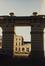 place Royale, impasse de Borgendael. Portiques et façades des immeubles bordant la place Royale ; Église Saint-Jacques sur Coudenberg. Portique de l'impasse du Borgendael ; Cour d'Arbitrage, vue depuis l'impasse de Borgendael, 1987
