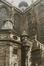 Rue des Sablons. Église paroissiale Notre-Dame du Sablon, détail façade nord, chapelle Sainte-Ursule, 1986