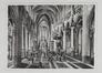 Rue des Sablons. Église paroissiale Notre-Dame du Sablon, intérieur, nef centrale et chœur, [s.d.]