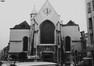 rue au Beurre. Église Saint-Nicolas, façade occidentale., 1985