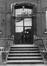 rue Blaes 91-93. Ancien Couvent Saint-Augustin des Sœurs Noires d'Afrique. Maison de repos Sainte-Monique, façade côté jardin, détail., 1980