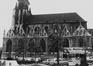 place de la Chapelle. Église Notre-Dame de la Chapelle, façade sud., 1980