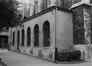 place de la Chapelle. Église Notre-Dame de la Chapelle, façade nord, annexe., 1980