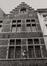 rue des Éperonniers 25-27. Galerie Agora, détail étages façade écran n° 25., 1980
