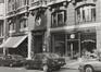 rue du Lombard 70-74, détail rez., 1980