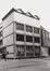 Rue du Midi 144. Académie Royale des Beaux-Arts, façade moderne, angle rue des Bogards, 1985
